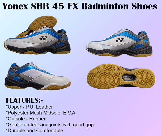 Yonex SHB 45 EX Badminton Shoes White and Blue
