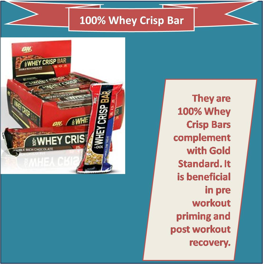 100 percent Whey Crisp Bar