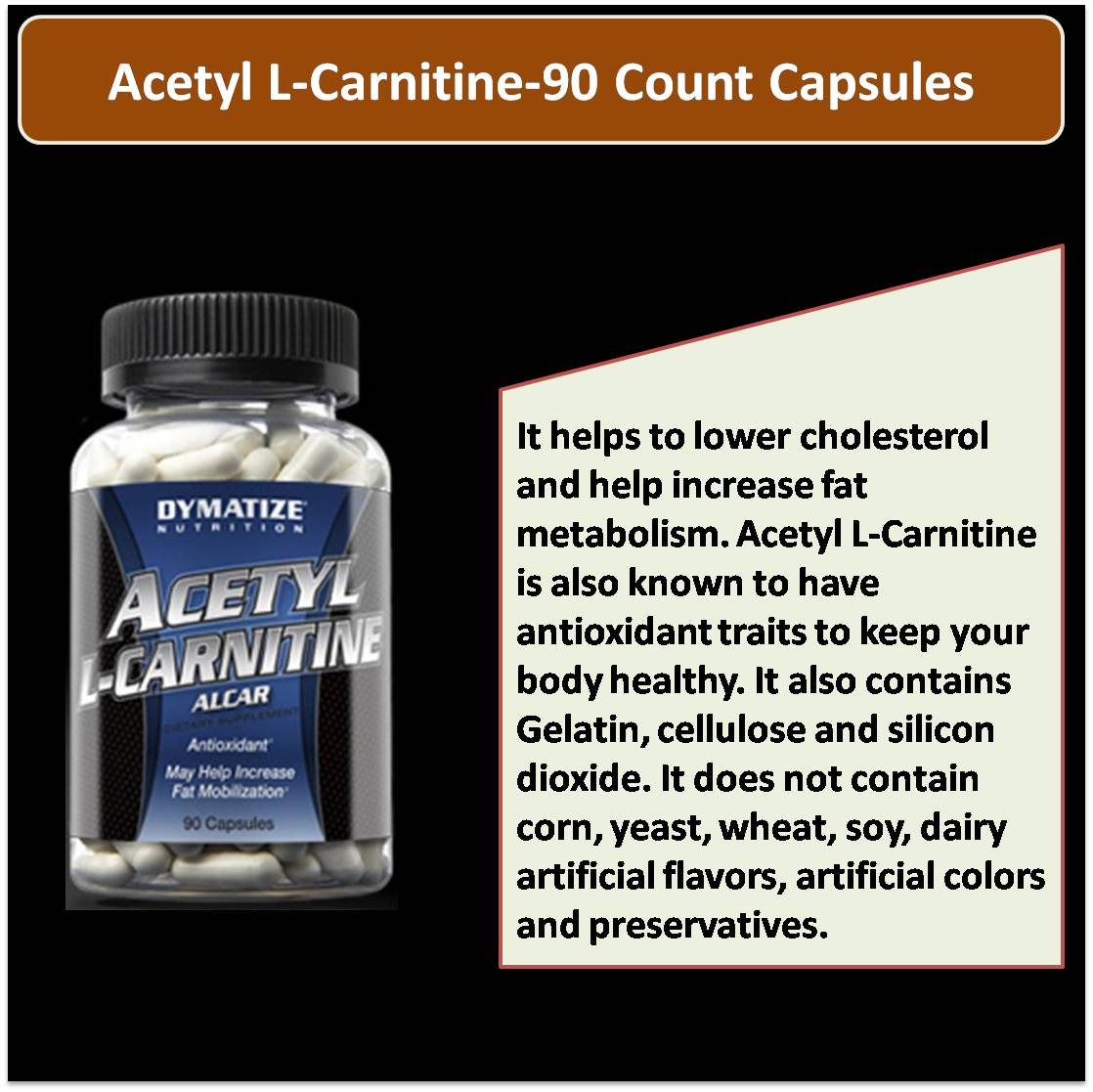 Acetyl L-Carnitine-90 Count Capsules