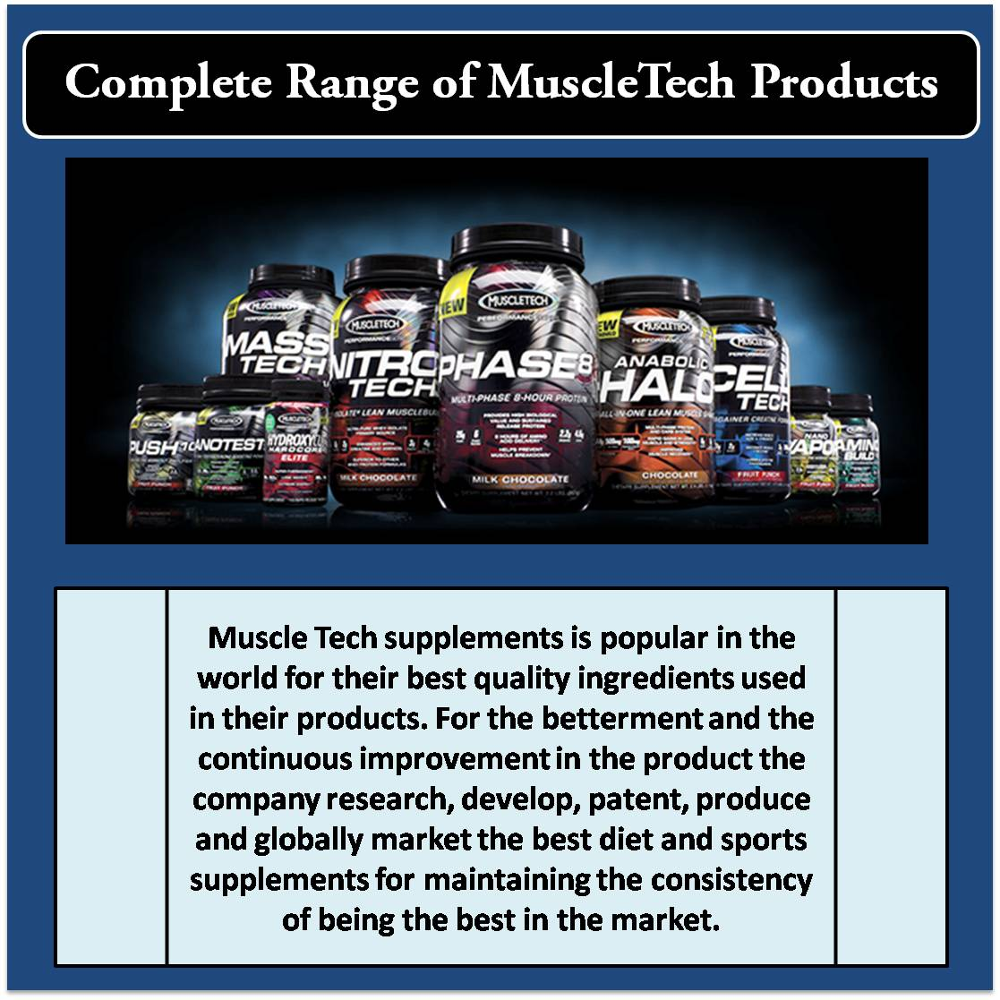 Complete Range of MuscleTech Products