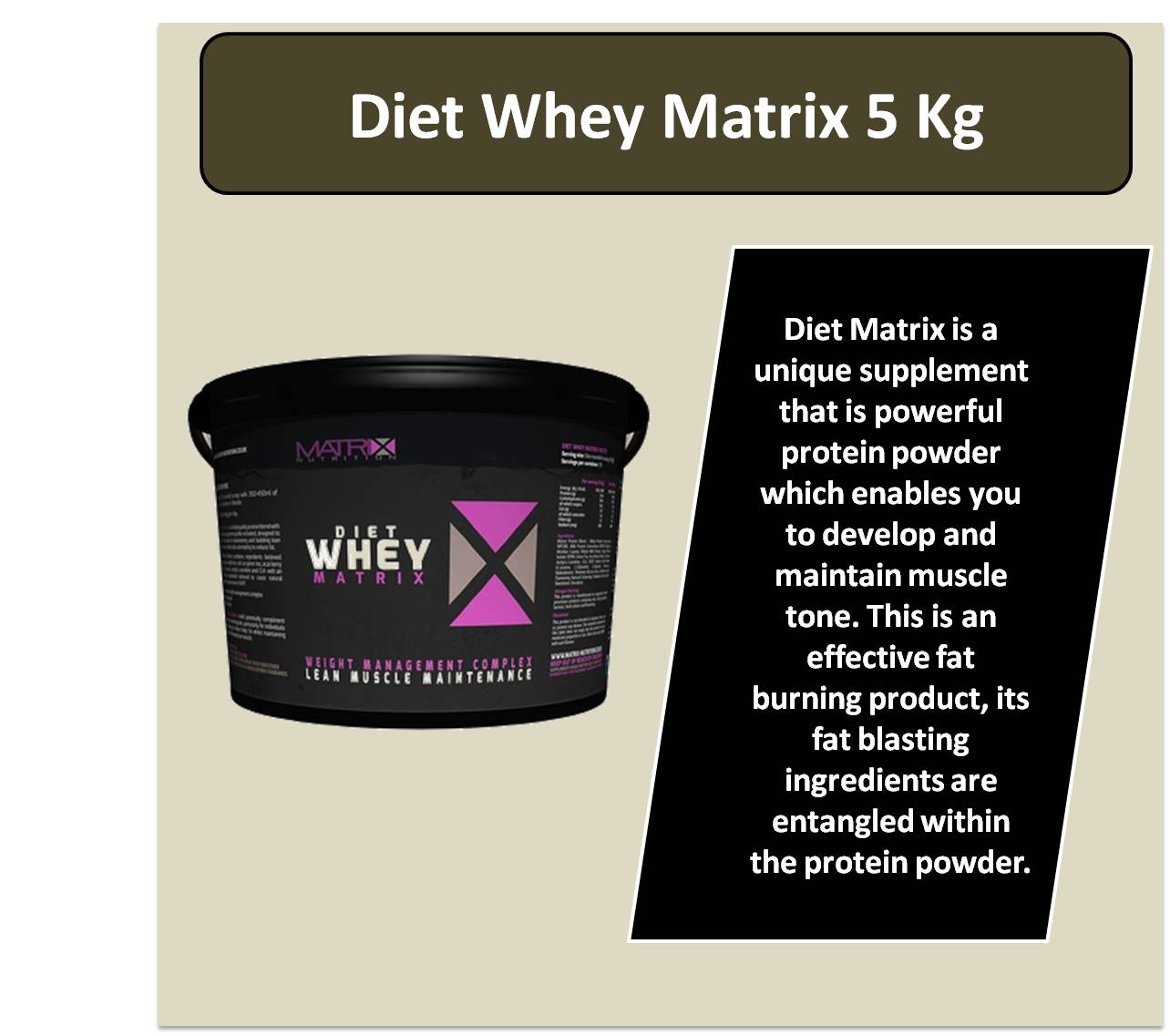 Diet Whey Matrix 5 Kg