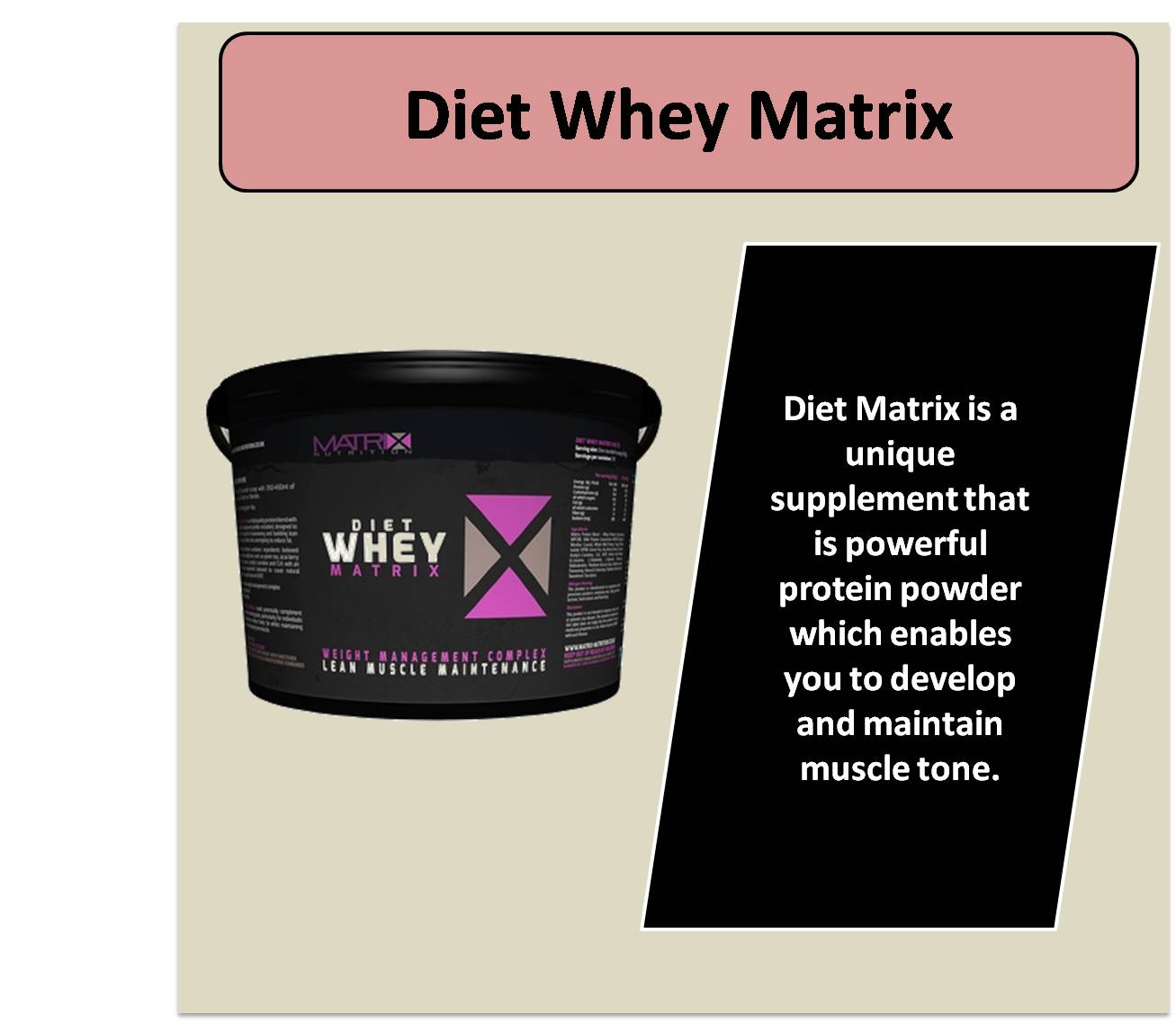 Diet Whey Matrix