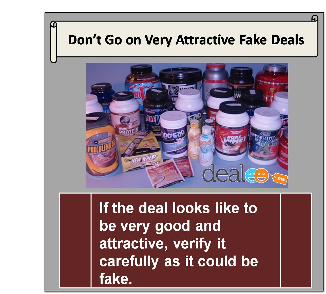 Don't go on very attractive fake deals