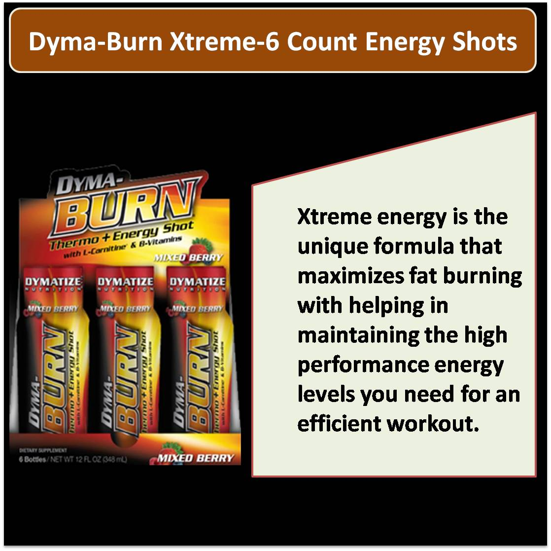 Dyma Burn Xtreme 6 Count Energy Shots