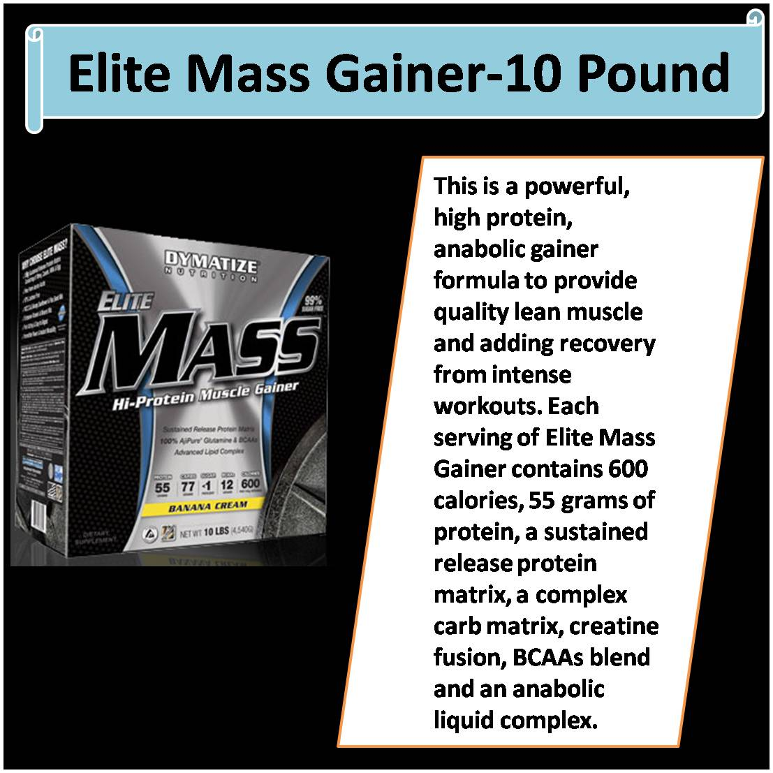 Elite Mass Gainer-10 Pound