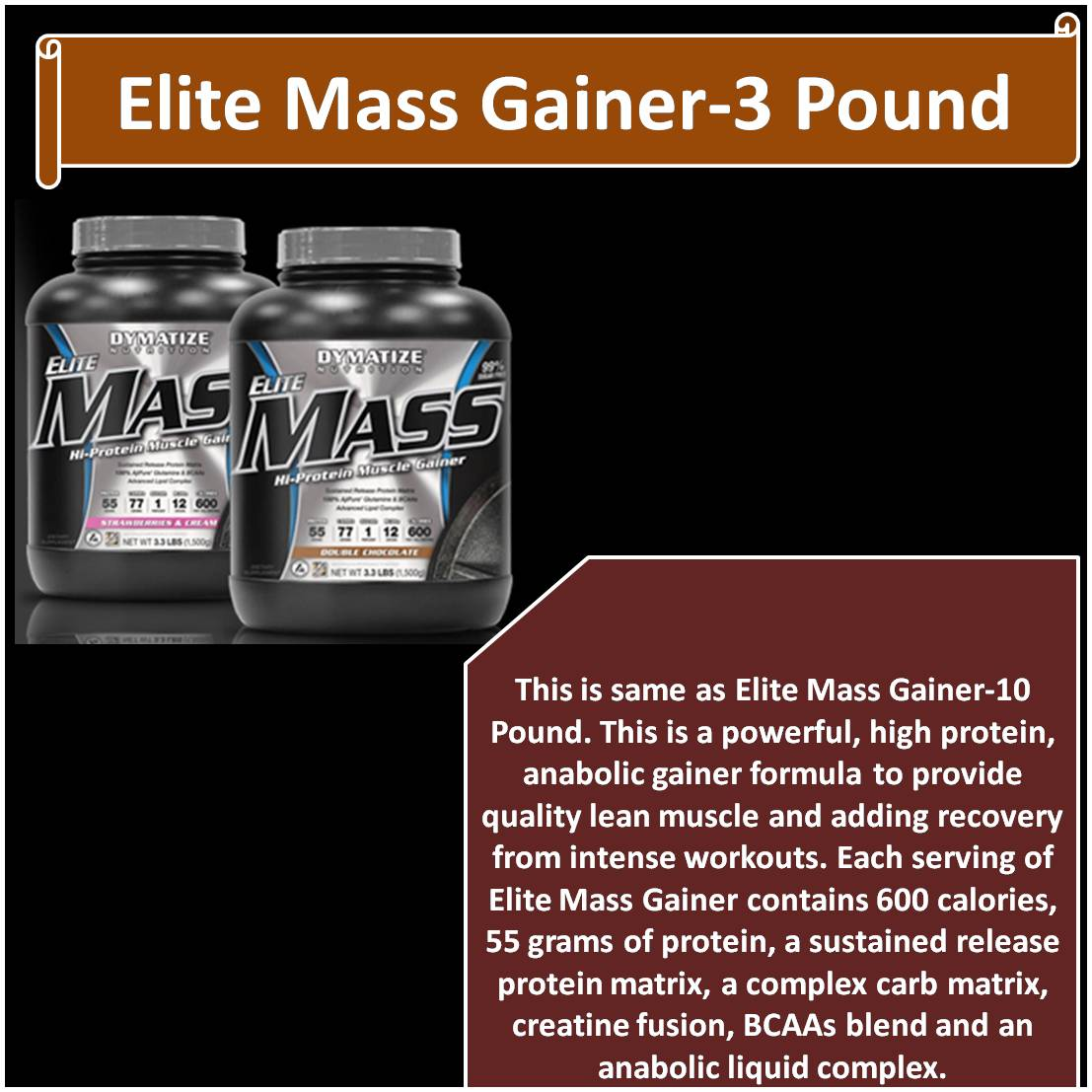 Elite Mass Gainer-3 Pound