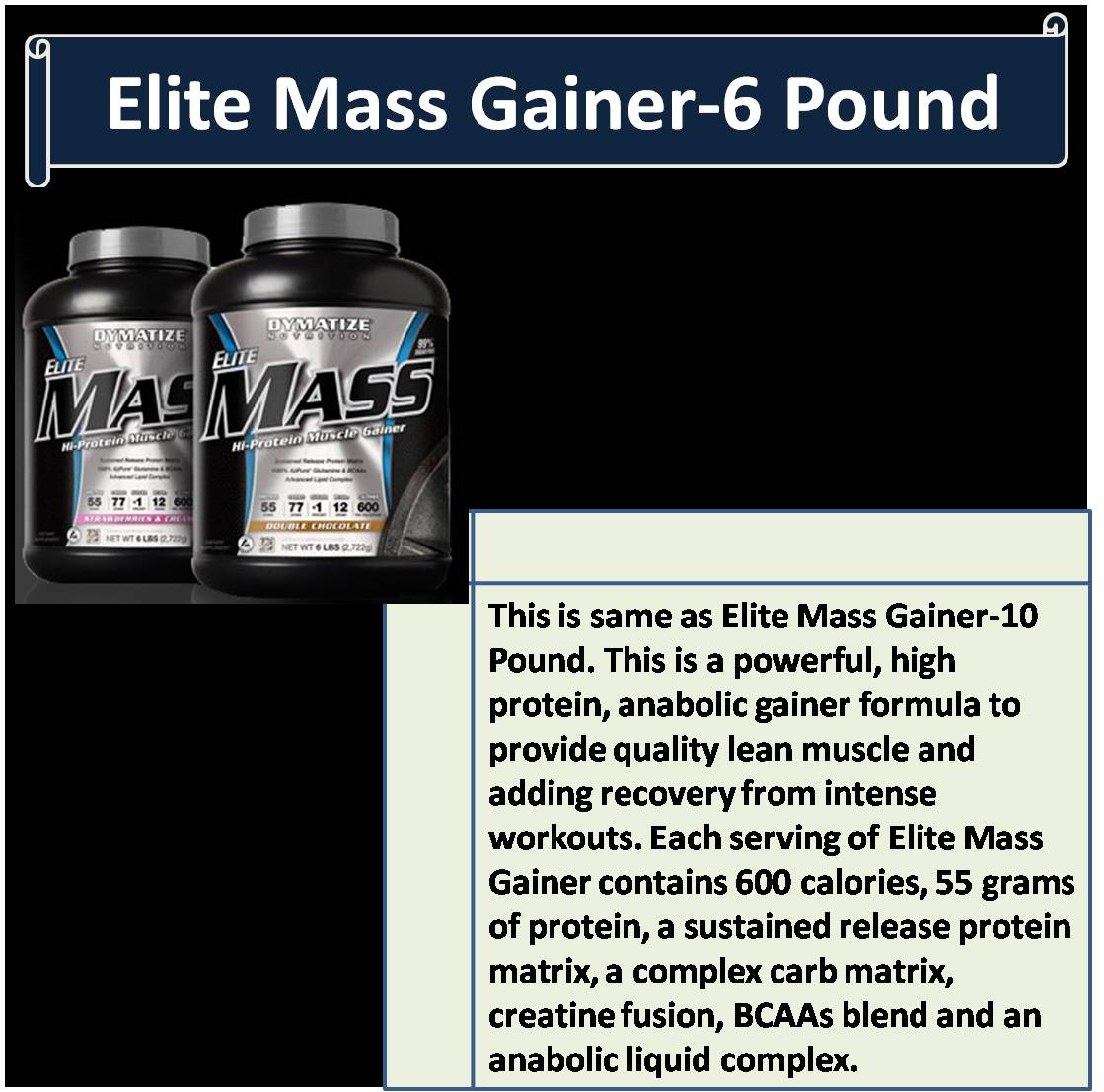 Elite Mass Gainer-6 Pound
