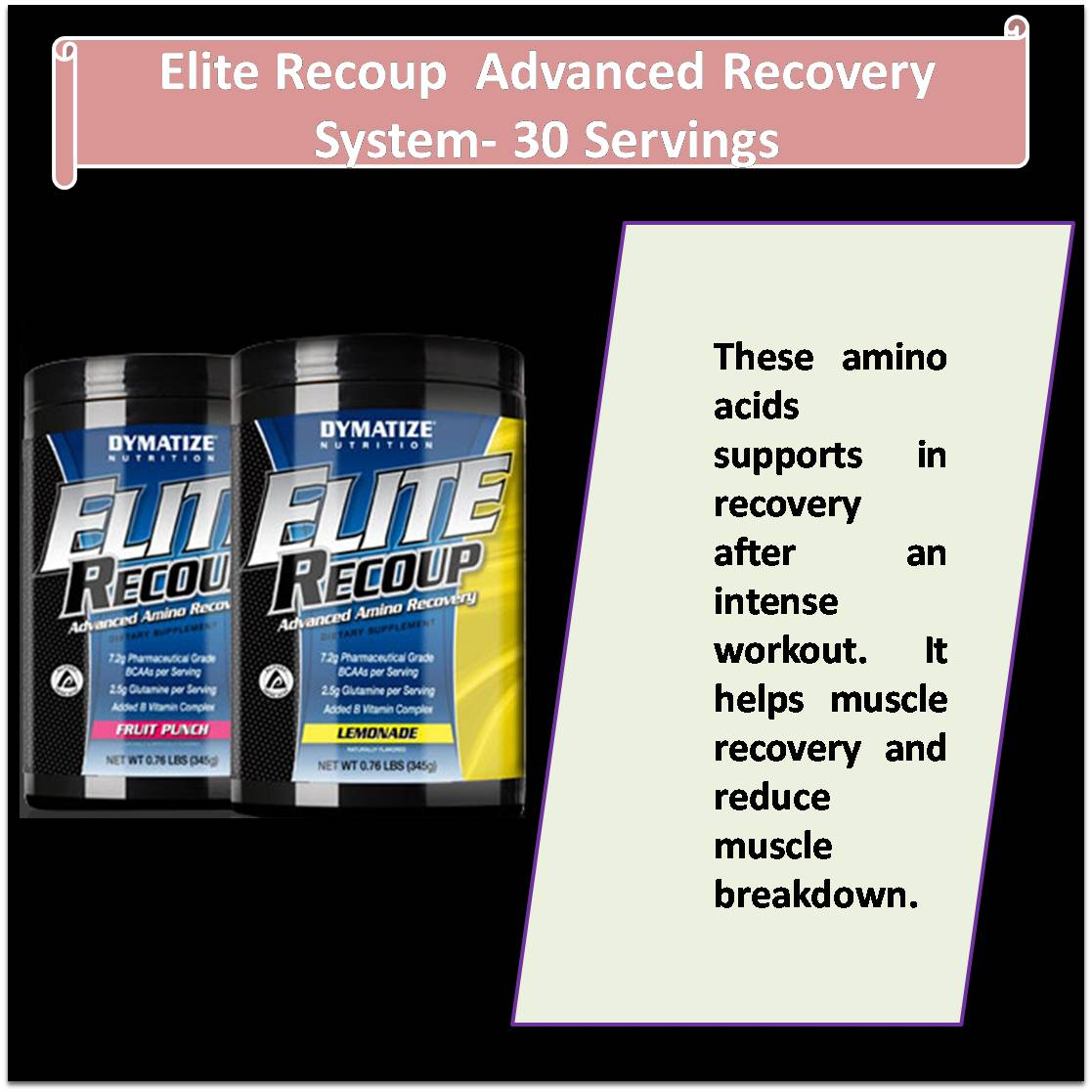 Elite Recoup  Advanced Recovery  System- 30 Servings