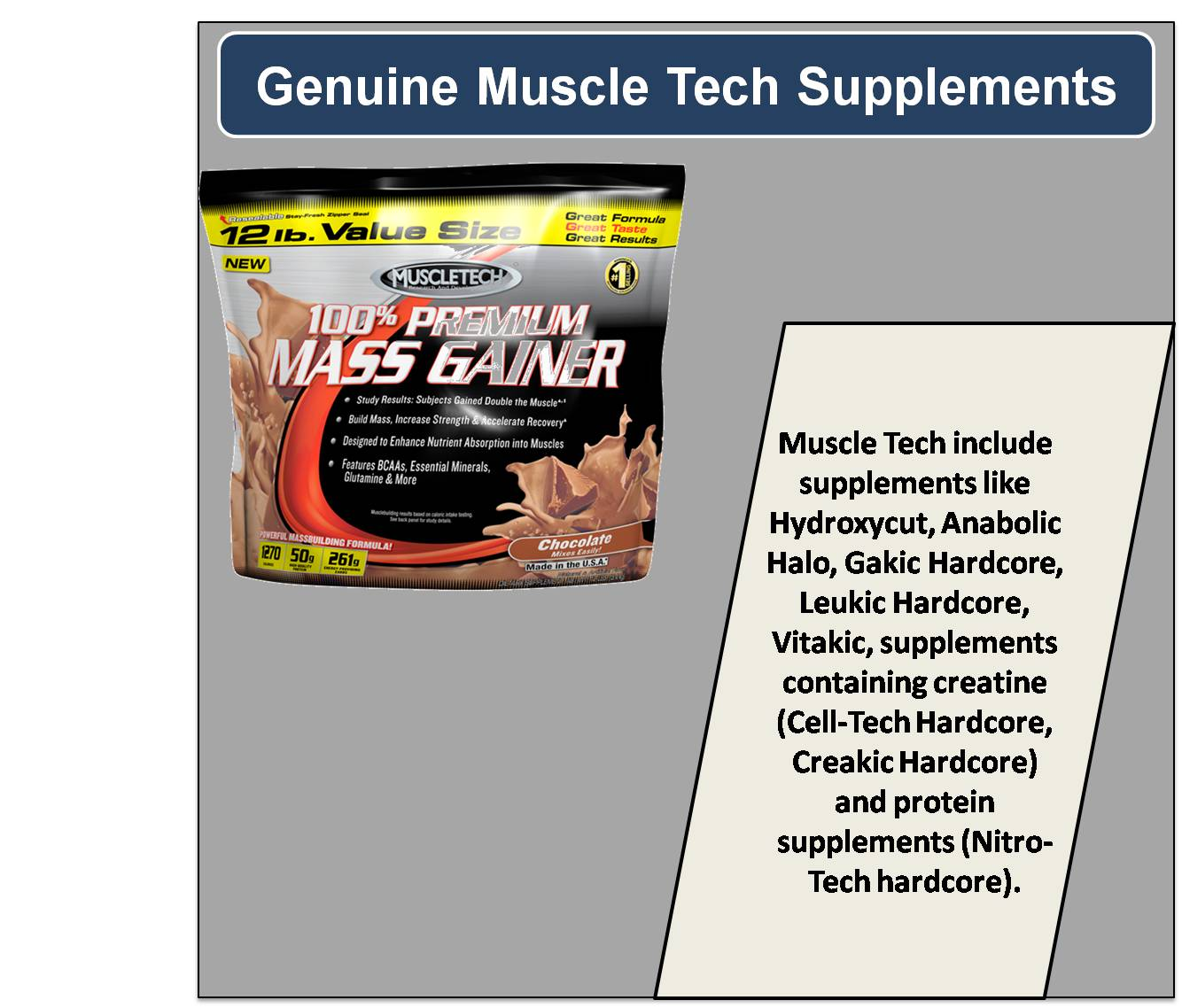 Genuine Muscle Tech Supplements