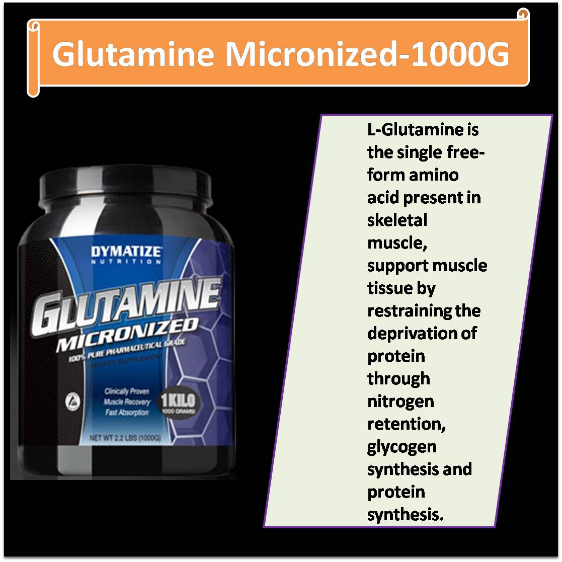 Glutamine Micronized-1000G