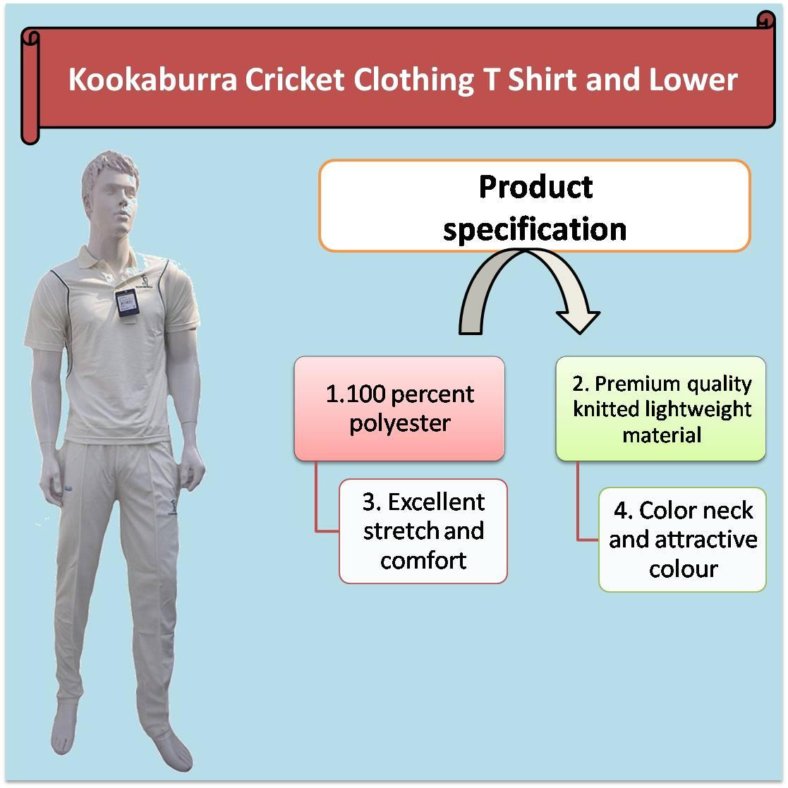 Kookaburra Cricket Clothing T Shirt and Lower