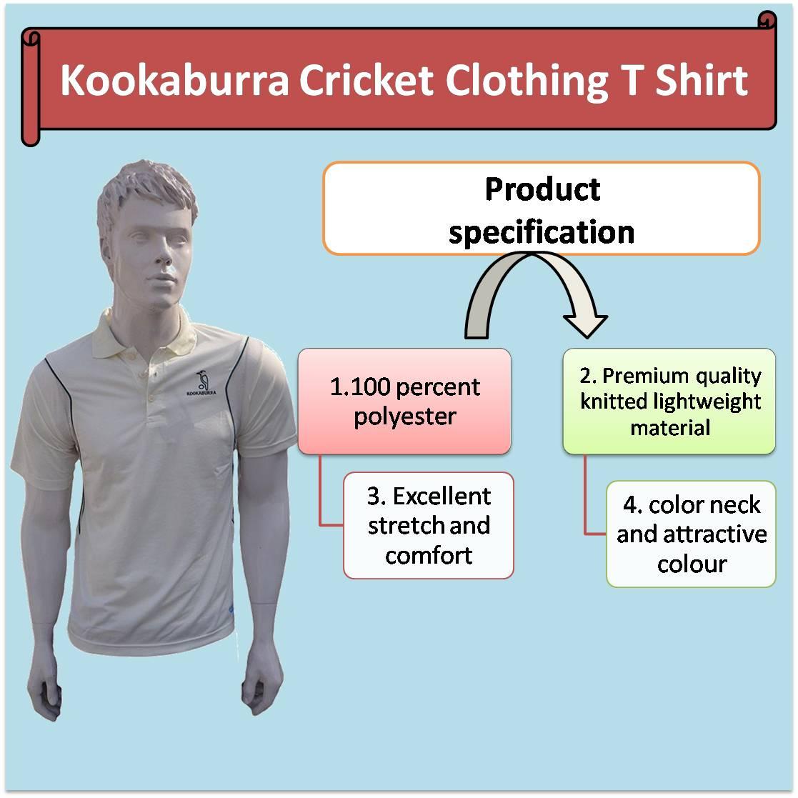 Kookaburra Cricket Clothing T Shirt