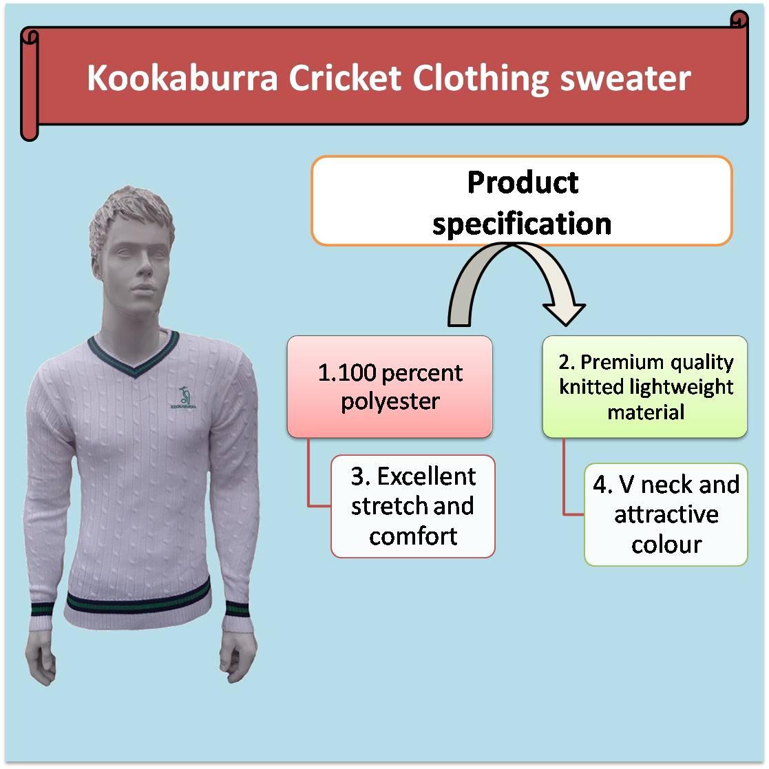 Kookaburra Cricket Clothing sweater