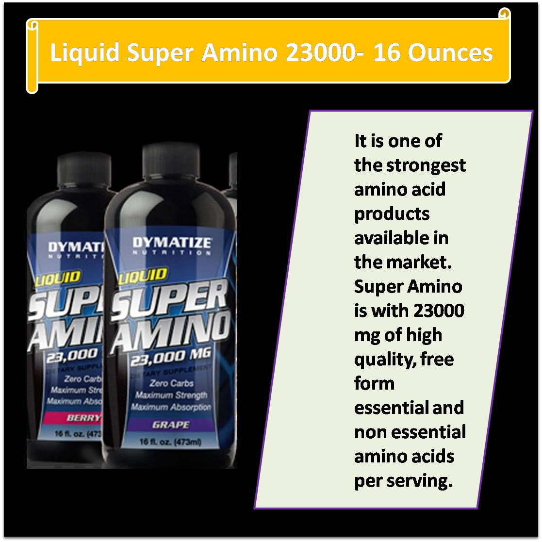 Liquid Super Amino 23000- 16 Ounces