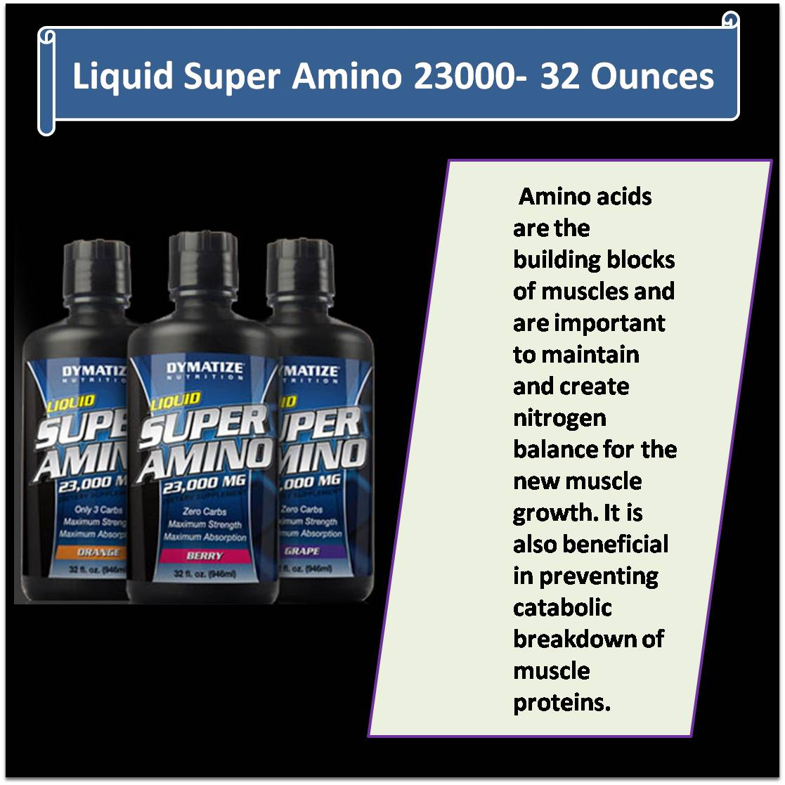Liquid Super Amino 23000- 32 Ounces