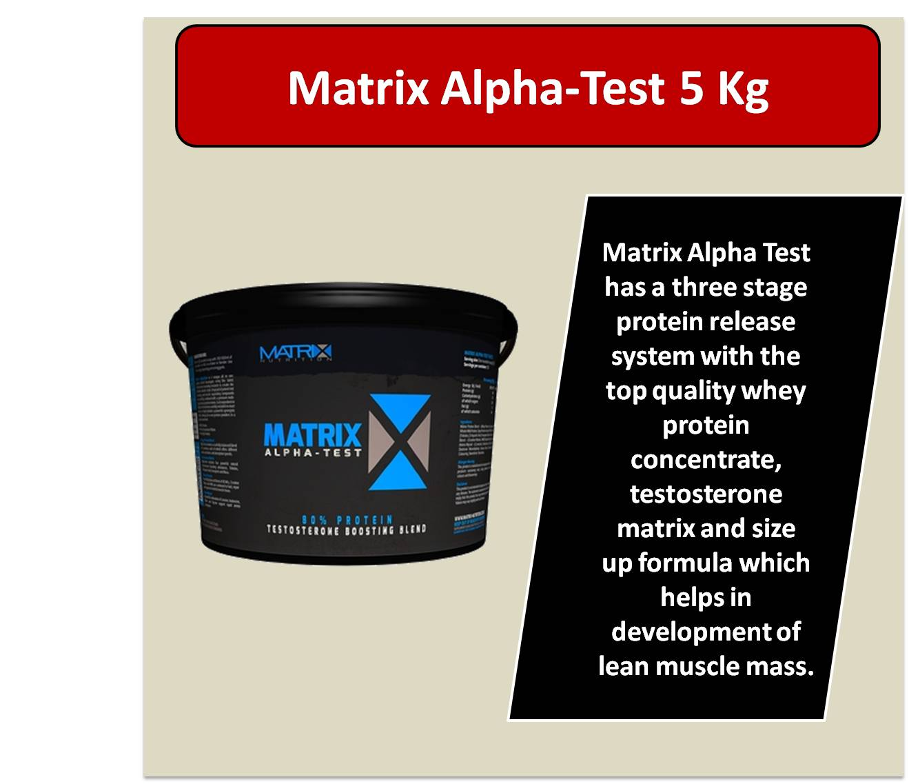 Matrix Alpha Test 5 Kg