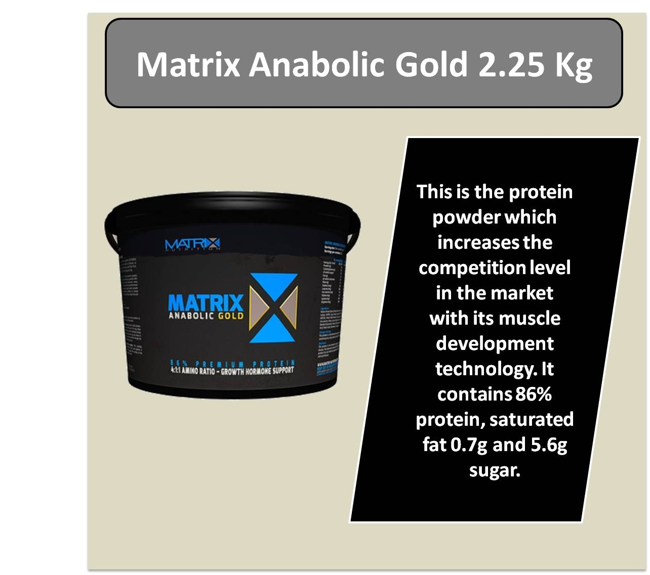 Matrix Anabolic Gold 2.25 Kg