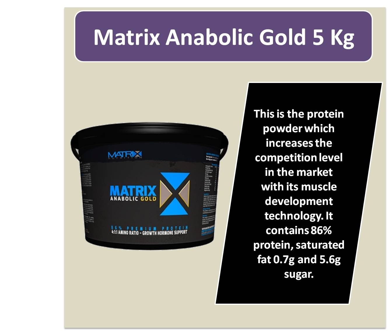 Matrix Anabolic Gold 5 Kg