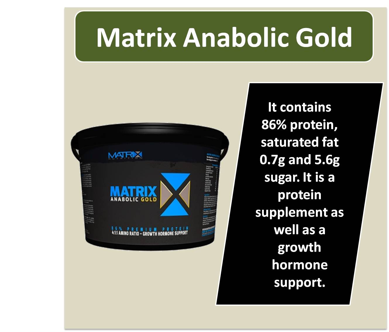 Matrix Anabolic Gold