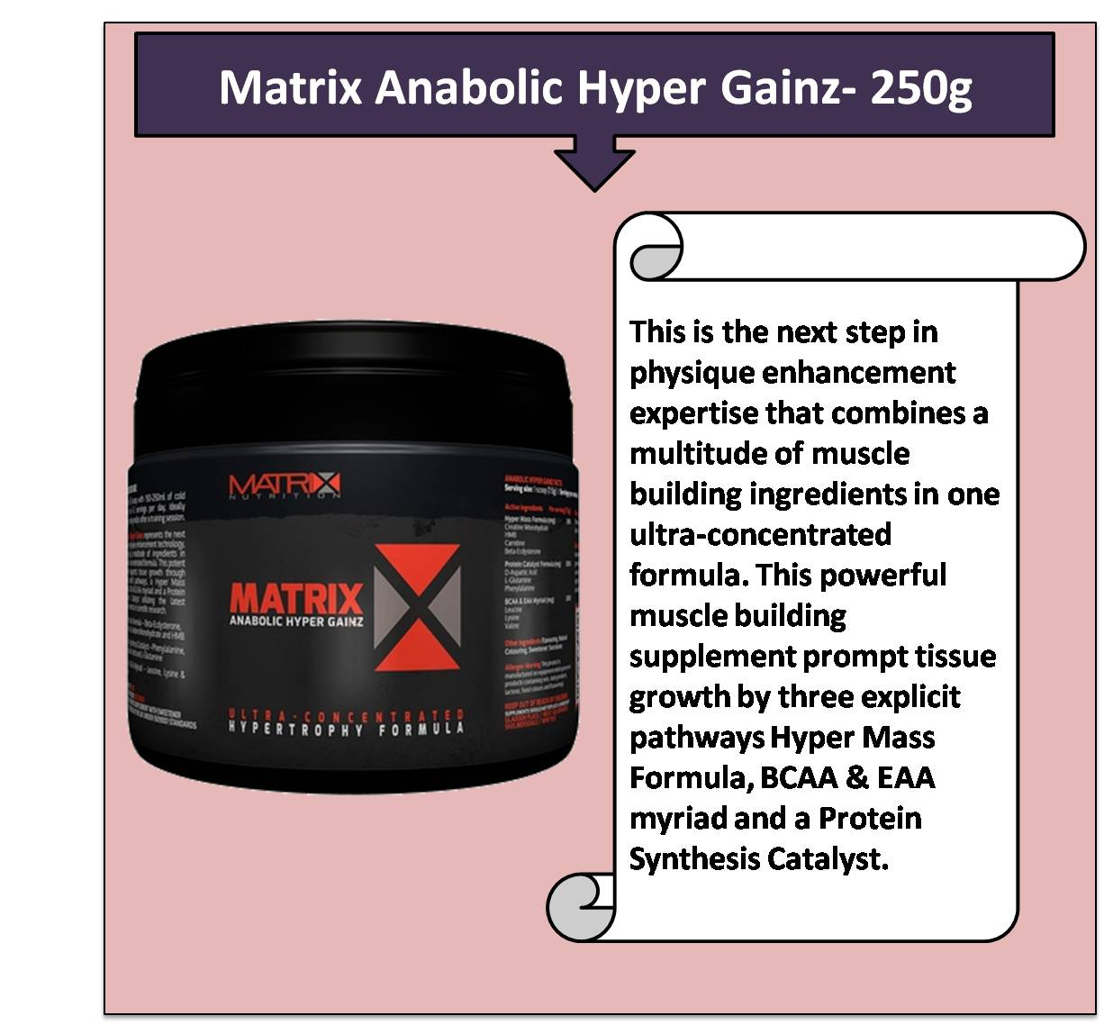 Matrix Anabolic Hyper Gainz- 250g