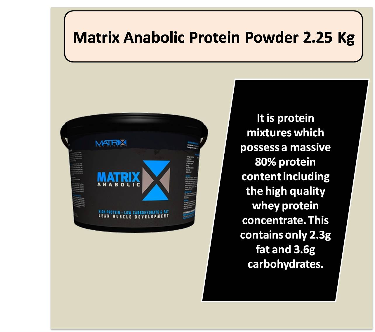 Matrix Anabolic Protein Powder 2.25 Kg