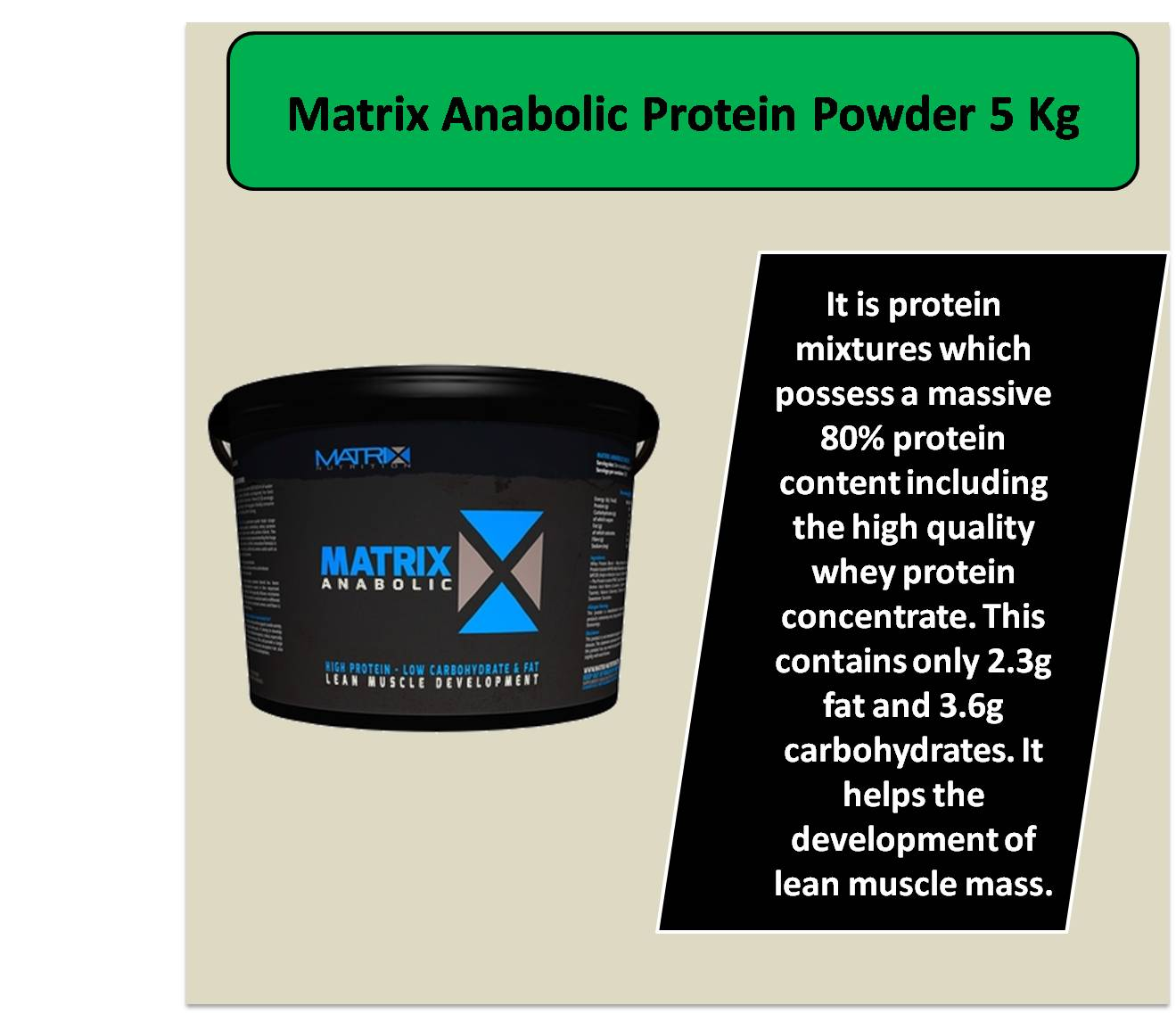 Matrix Anabolic Protein Powder 5 Kg