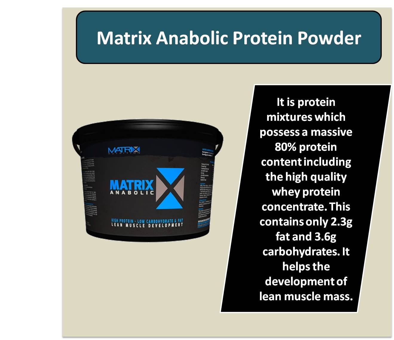 Matrix Anabolic Protein Powder