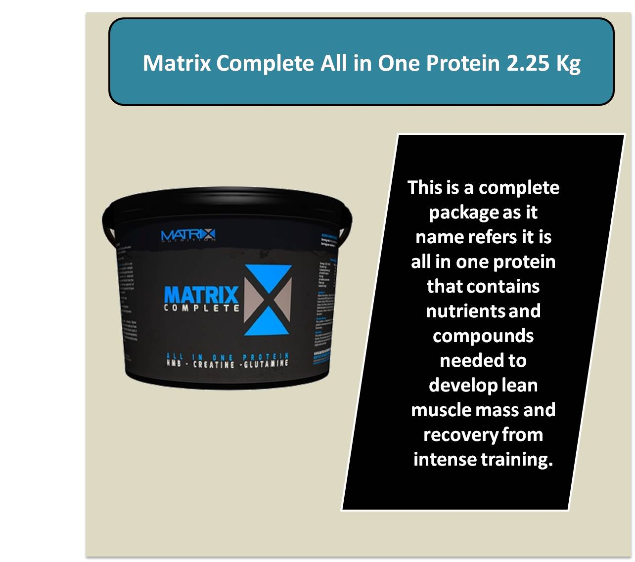 Matrix Complete All in One Protein 2.25 Kg