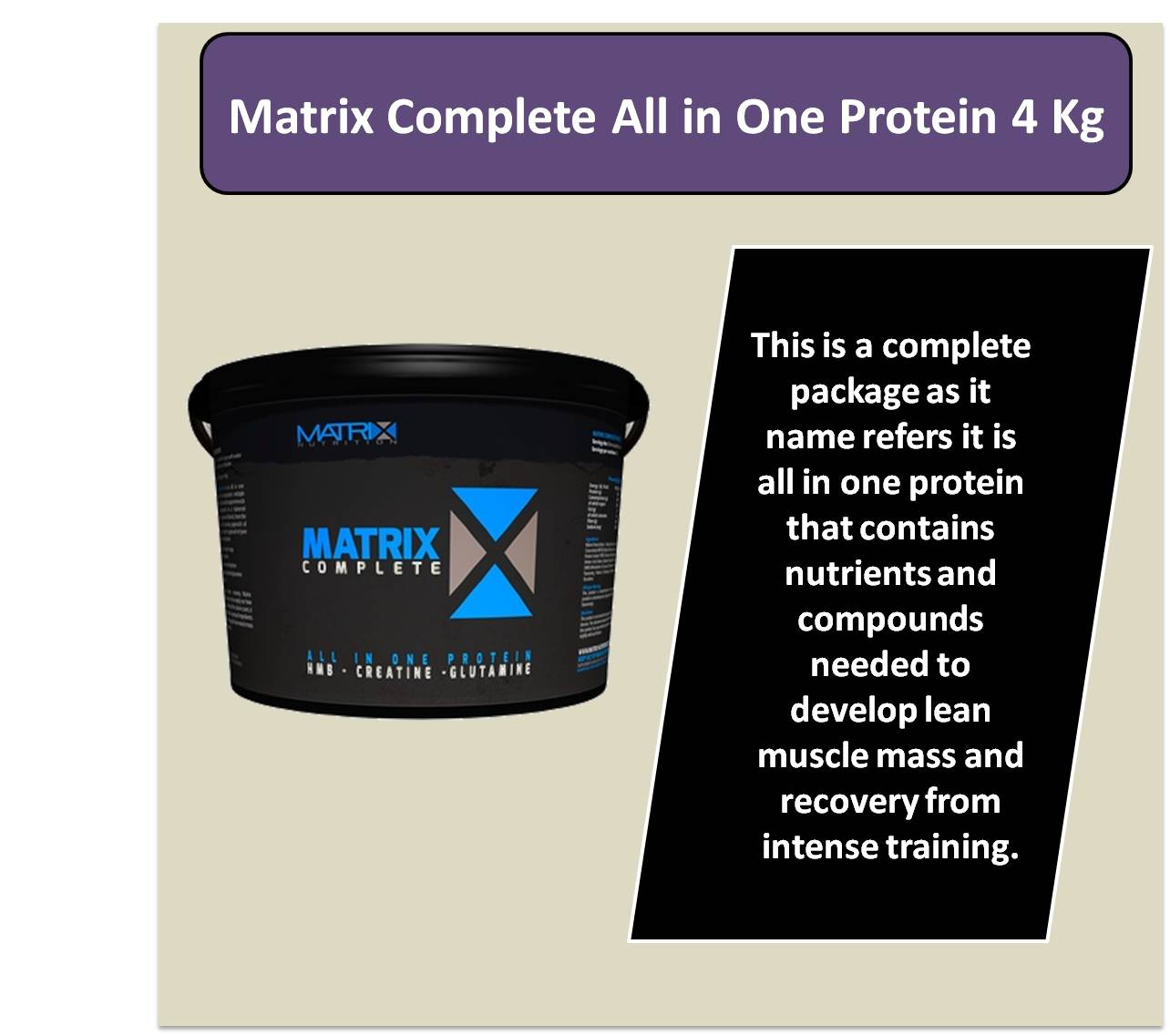 Matrix Complete All in One Protein 4 Kg