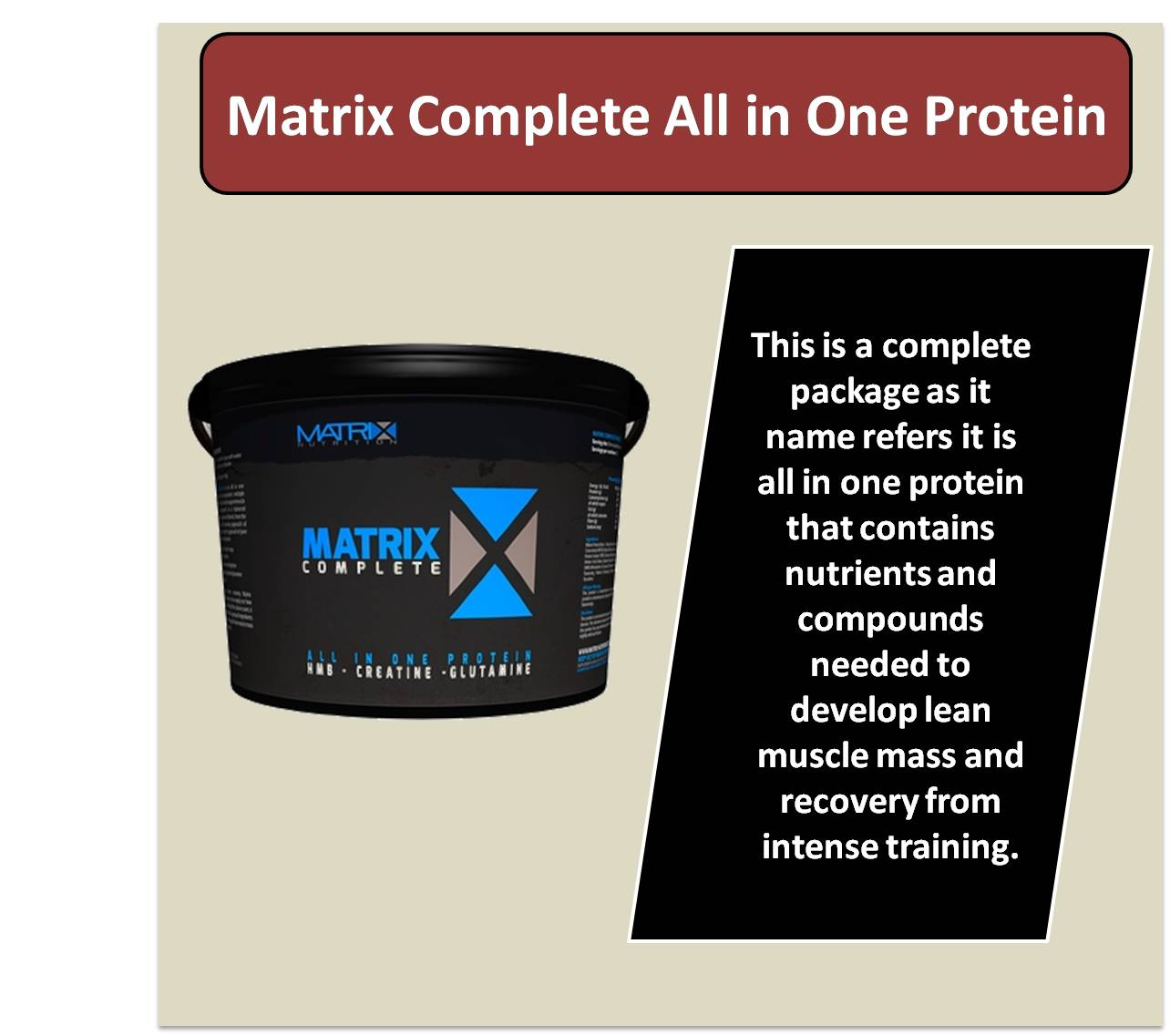 Matrix Complete All in One Protein