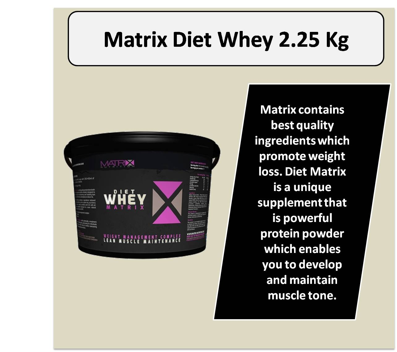 Matrix Diet Whey 2.25 Kg