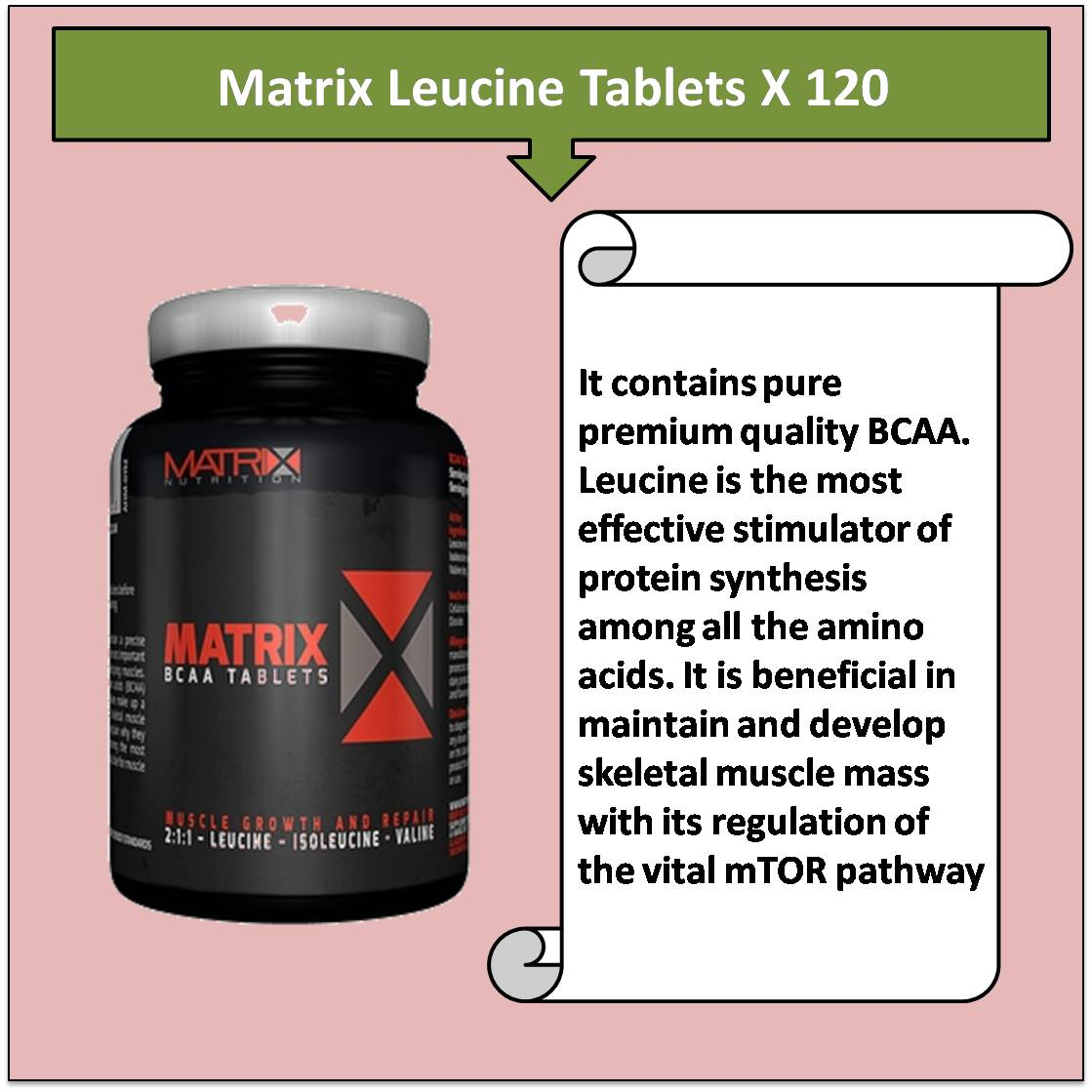 Matrix Leucine Tablets X 120