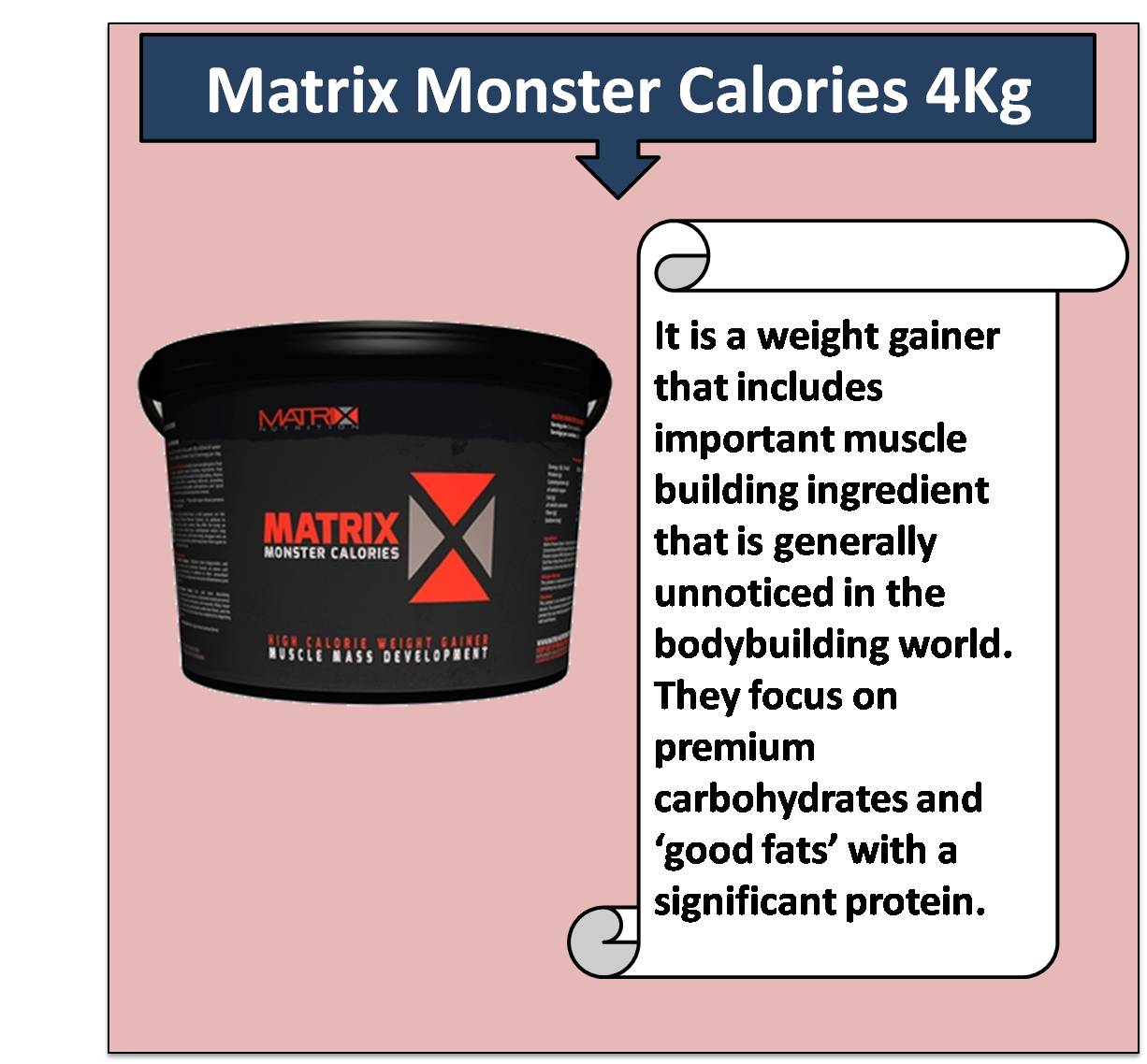 Matrix Monster Calories 4Kg