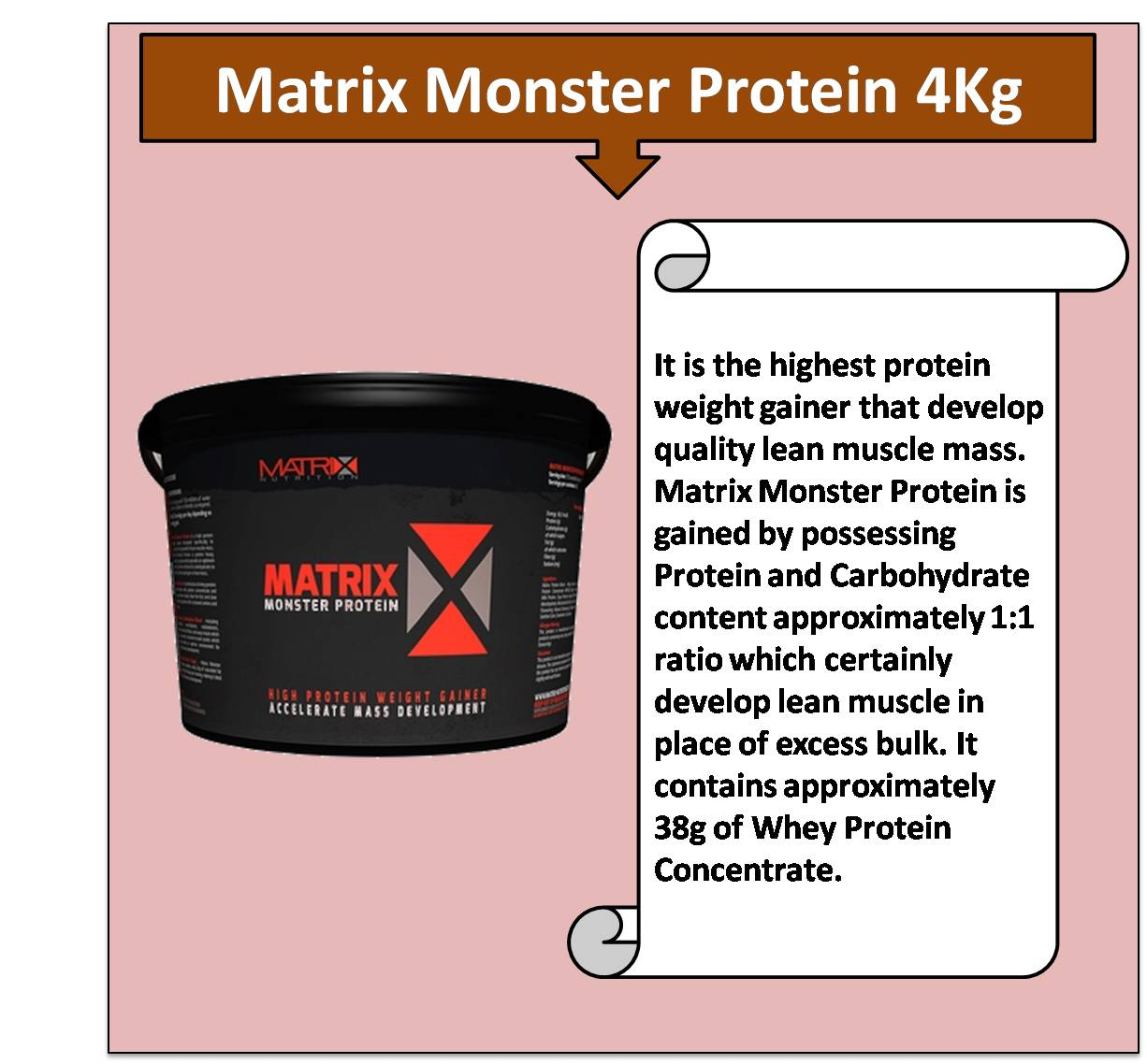 Matrix Monster Protein 4Kg