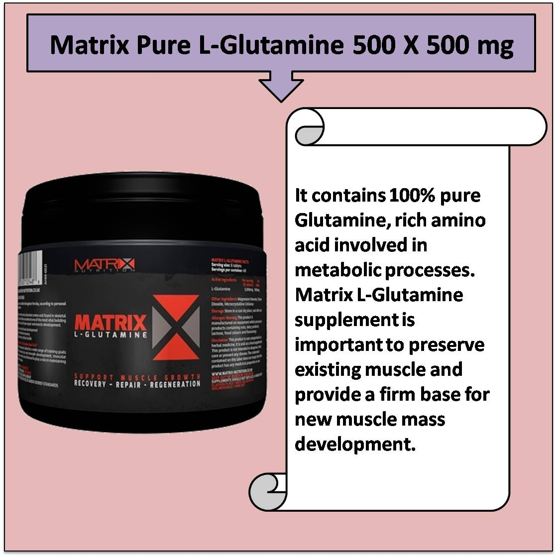 Matrix Pure L-Glutamine 500 X 500 mg