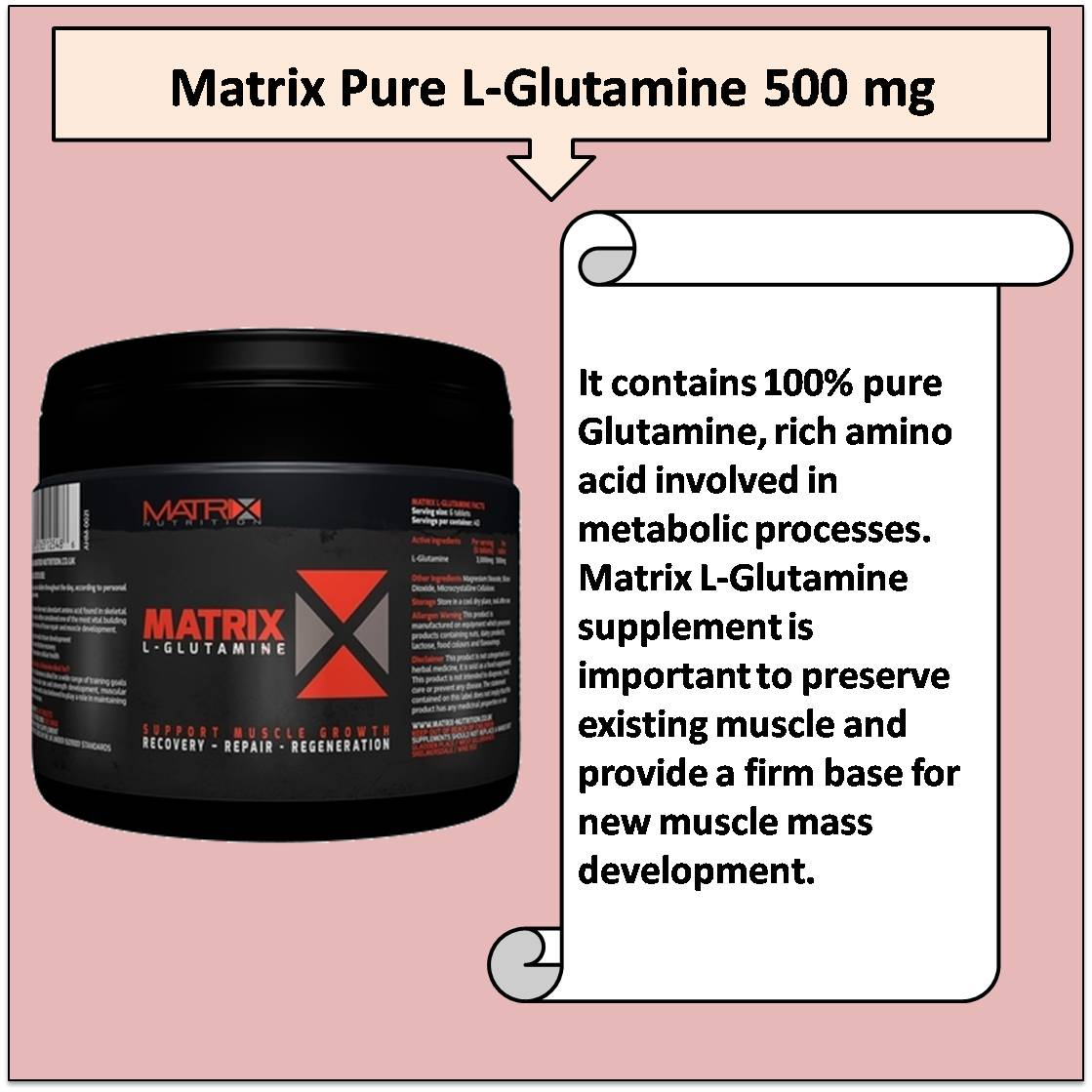 Matrix Pure L-Glutamine 500 mg