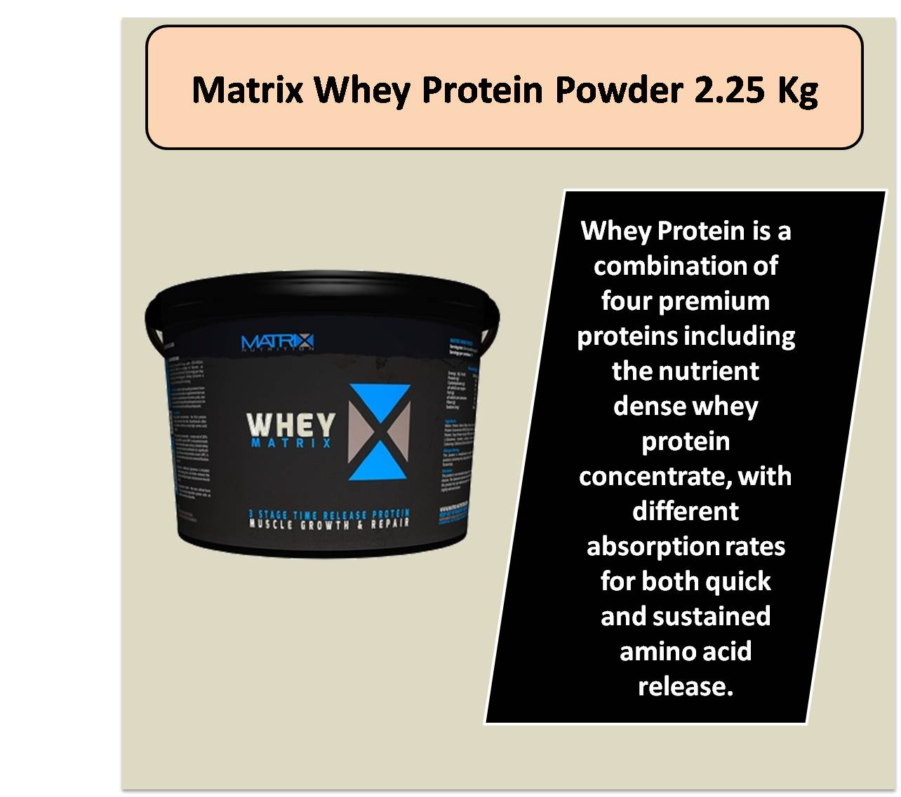 Matrix Whey Protein Powder 2.25 Kg