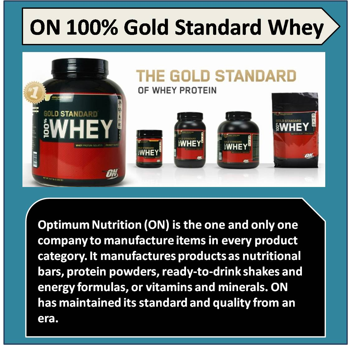 ON 100 percent Gold Standard Whey