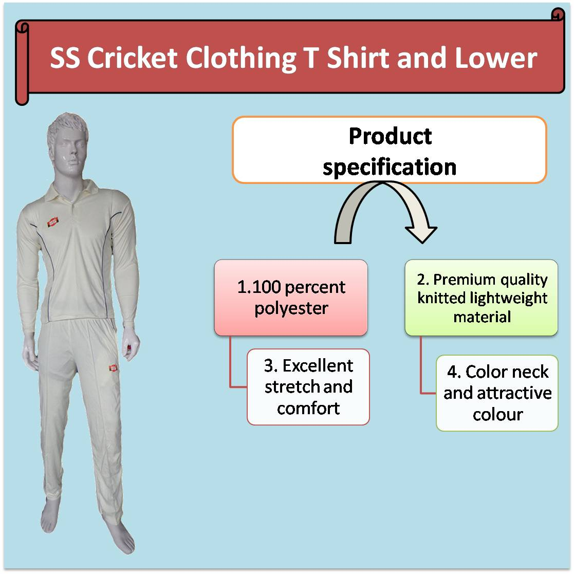 SS Cricket Clothing T Shirt and Lower