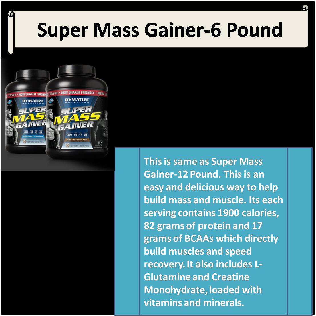 Super Mass Gainer-6 PoundSuper Mass Gainer-6 Pound