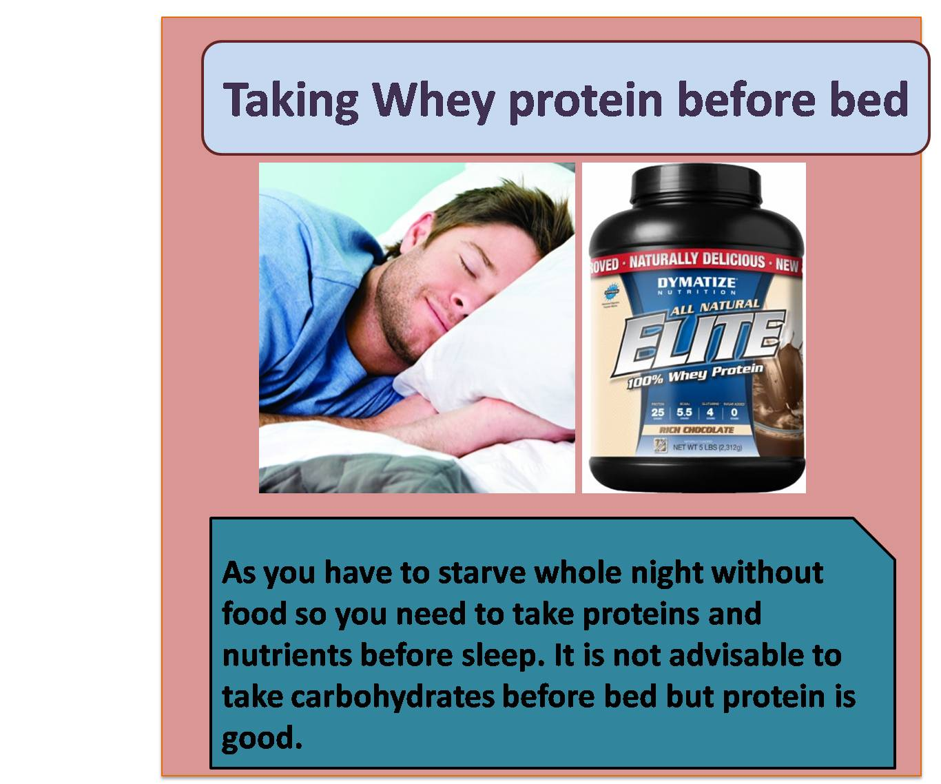 Taking Whey protein before bed