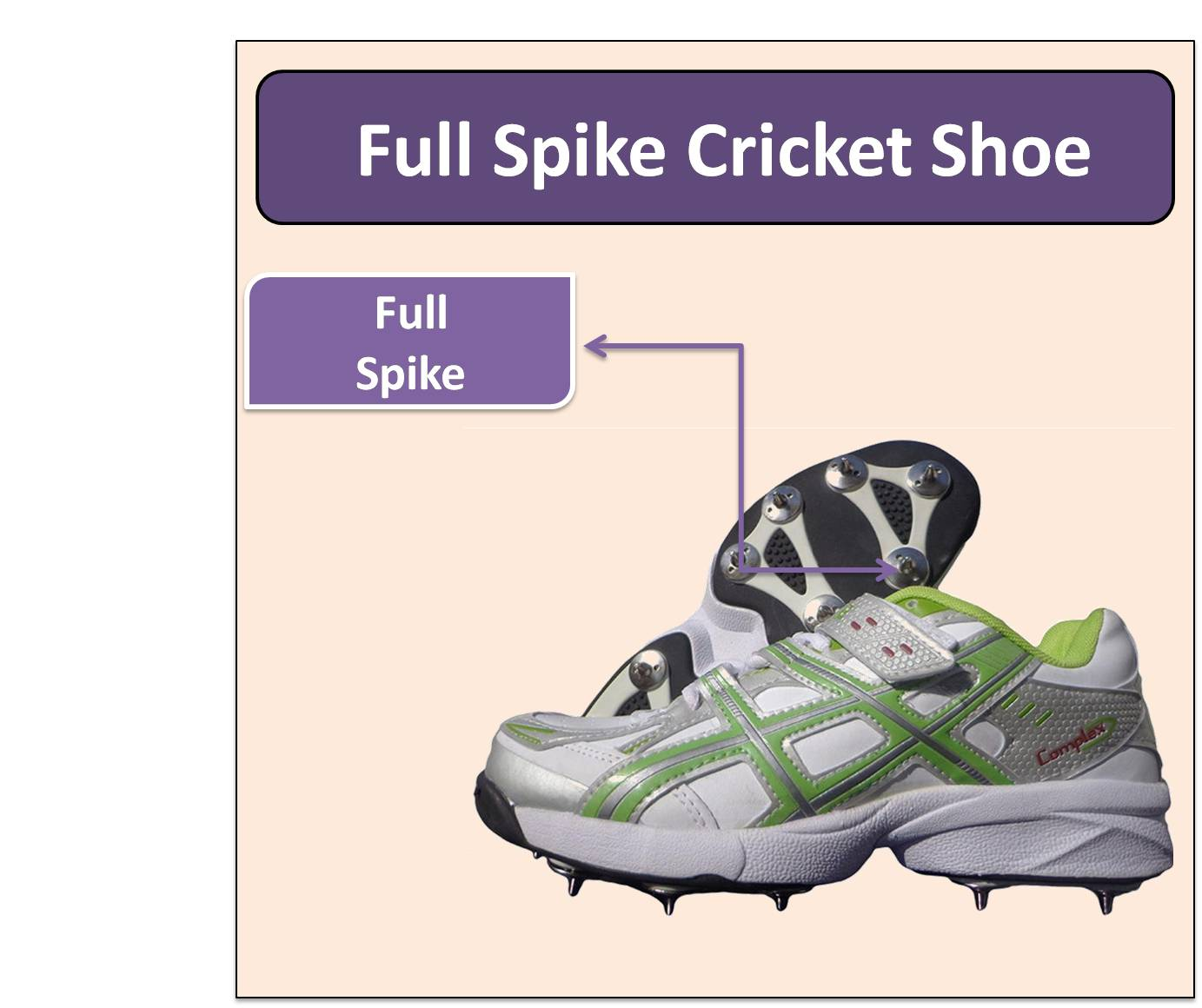 Full Spike Cricket Shoe