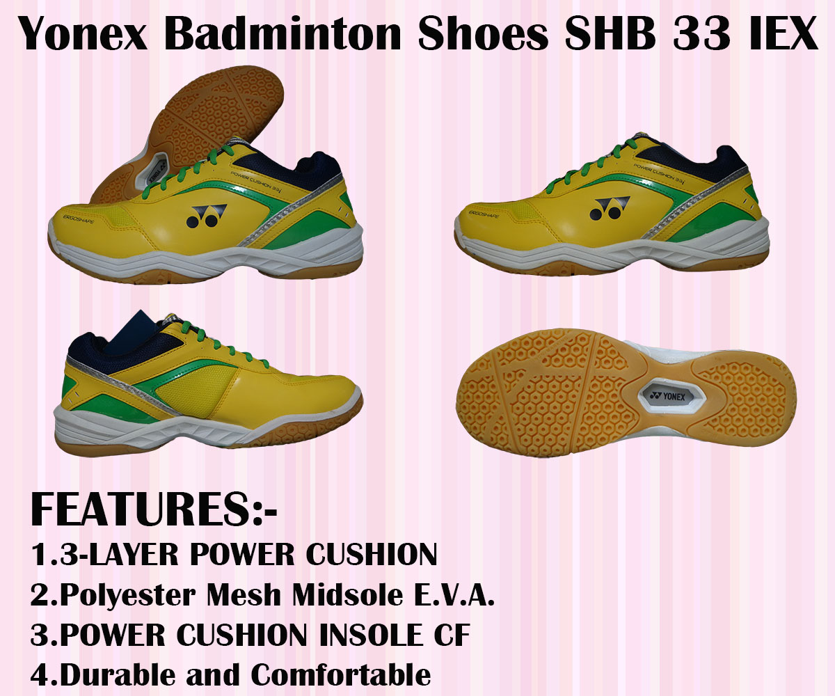 Yonex Badminton Shoes SHB 33 IEX Yellow and Green