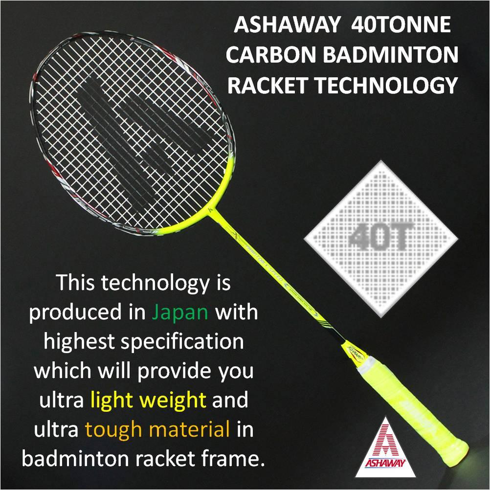 Ashaway 40 Tonne Carbon-Badminton Racket Technology