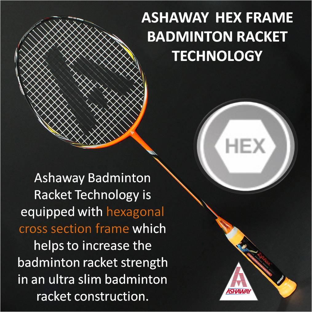 Ashaway Hex Frame Badminton Racket Technology