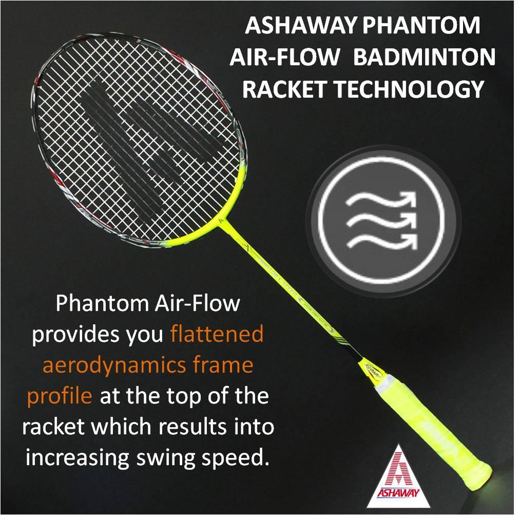 Ashaway Phantom Air Flow-Badminton Racket Technology