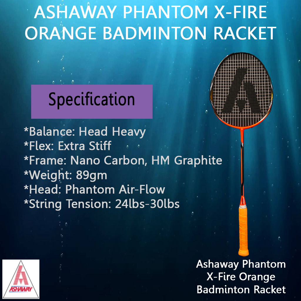 Ashaway Phantom X Fire orange Badminton Racket