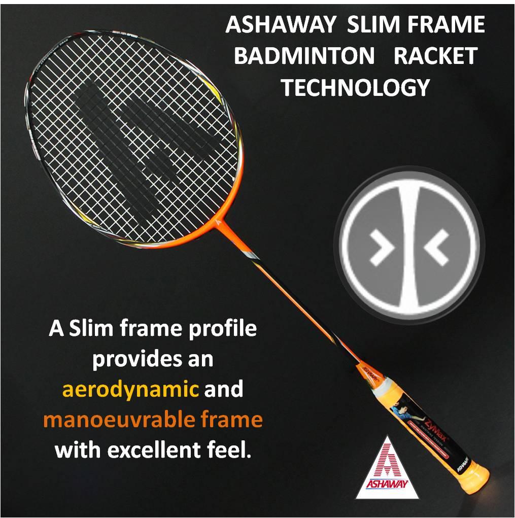 Ashaway Slim Frame Badminton Racket Technology