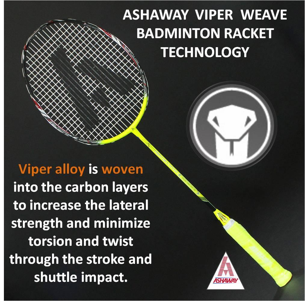 Ashaway Viper Weave Badminton Racket Technology