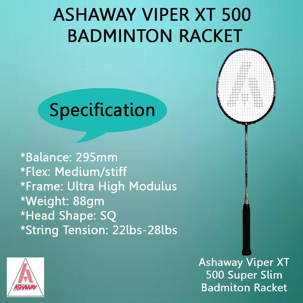 Ashaway Viper XT 500 Super Slim Badminton Racket
